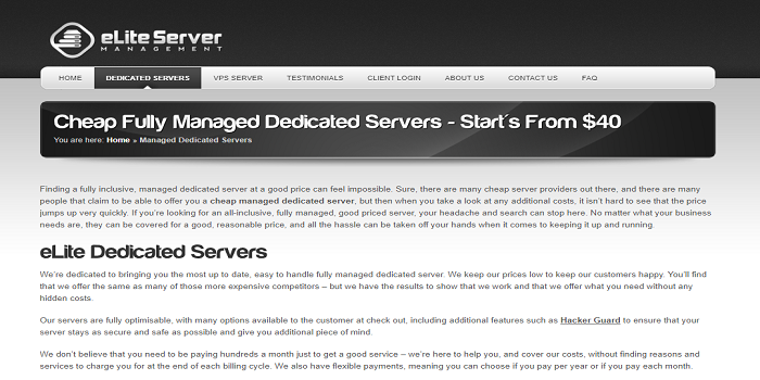 low cost dedicated servers